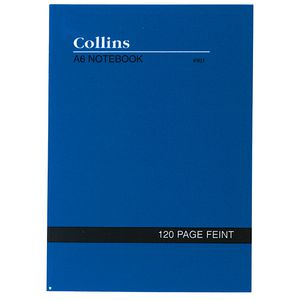 Collins A6 No.901 Feint Ruled Notebook 120 Page