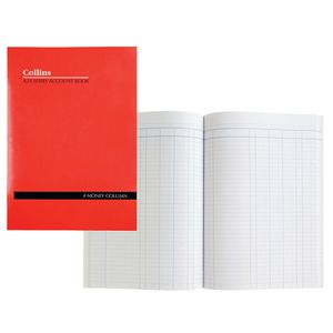 Collins A24 A4 Account Book 4 Money Column