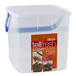Decor Tellfresh Square Super Storer with Blue Handle 8.5L
