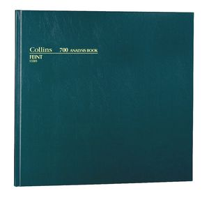 Collins 700 Analysis Book Ruled Green