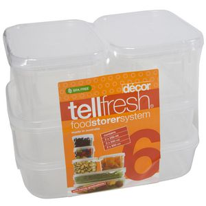 Decor Tellfresh Storage Set 6Pk