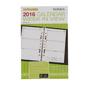 Collins Debden Desk Day Planner Week to View 2016 Refill