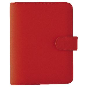 Dayplanner Personal Organiser Snap Closure Red