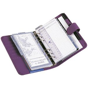 Dayplanner Personal Organiser Snap Closure Purple