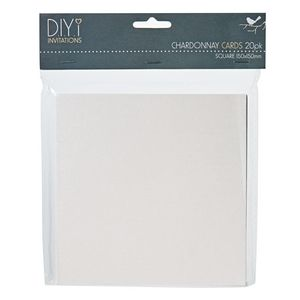 DIYi Folded Square Cards Pearl Chardonnay 150 x150mm