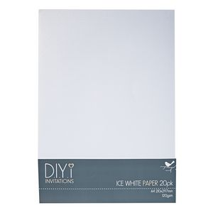 DIYi 120gsm A4 Paper Ice White 20 Sheets