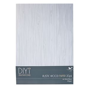 DIYi Rustic Wood Paper 120gsm A4 20 Pack