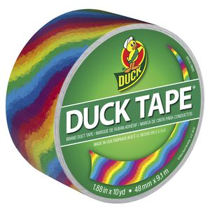 Duck Printed Duct Tape Rainbow 48mm x 9.1m