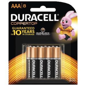 Duracell Coppertop AAA Batteries 8 Pack