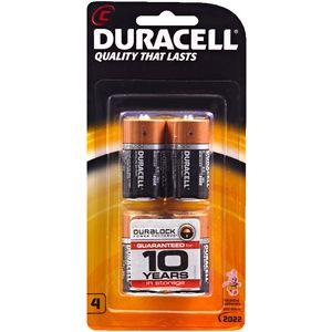 Duracell Coppertop C Batteries 4 Pack