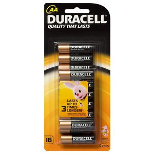 Duracell Coppertop AA Batteries 16 Pack