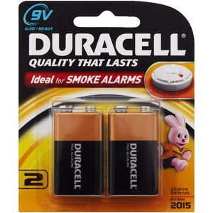 Duracell Coppertop 9V Batteries 2 Pack