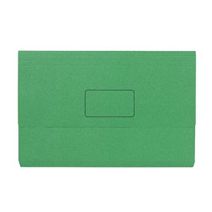 Foolscap Document Wallet 240gsm Green