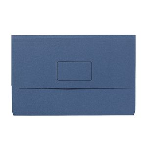 Foolscap Document Wallet 240gsm Navy