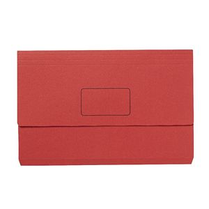 Foolscap Document Wallet 240gsm Red