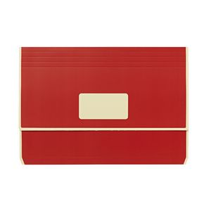 A4 Laminated Document Wallet with Gusset Matte Red