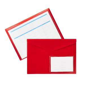 Document Wallet A4 Magnetic Closure Red