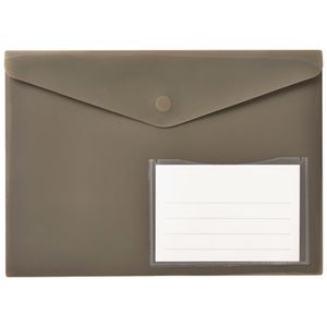 Document Wallet A4 Magnetic Closure Warm Grey