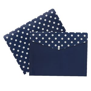Document Wallet A4 Printed PP Navy and White