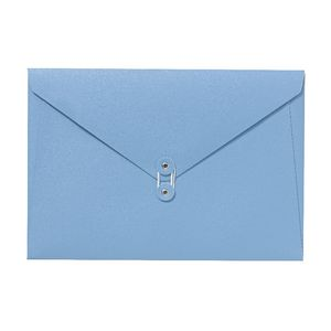 A4 Luxe Document Wallet with String Closure Blue
