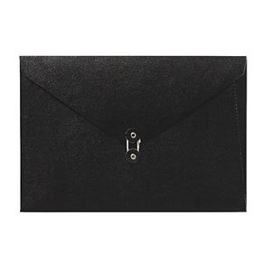 A4 Luxe Document Wallet with String Closure Black