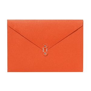 A4 Luxe Document Wallet with String Closure Orange