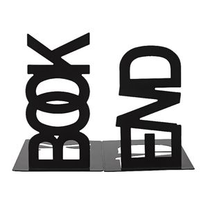 Metal Bookends Black