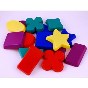 Learning Can Be Fun Sandplay Assorted Moulded Shapes 16 Pack