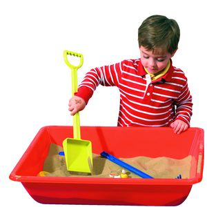 Learning Can Be Fun Sand and Water Play Tray Red