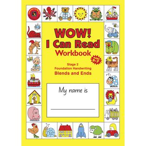 EC I Can Read Handwriting and Reading Stage 2 Workbook