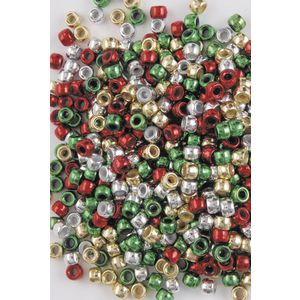 Educational Colours Christmas Pony Beads 1000 Pack