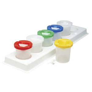 Educational Colours Safety Paint Pots 6 Pack