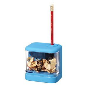 a brand called eD Battery Operated Pencil Sharpener Blue