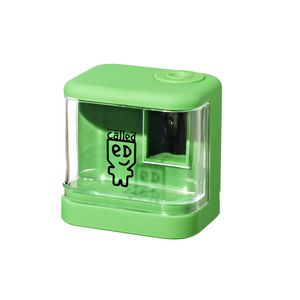 a brand called eD Battery Operated Pencil Sharpener Green