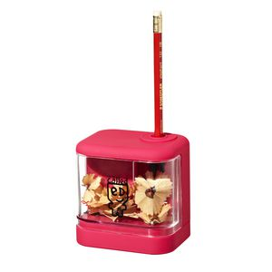 a brand called eD Battery Operated Pencil Sharpener Pink