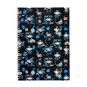 a brand called eD Pirate A4 Notebook 160 Page Black