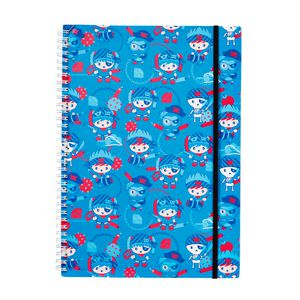 a brand called eD Pirate A4 Notebook 160 Page Blue