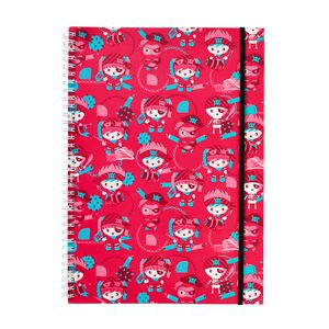 a brand called eD Pirate A4 Notebook 160 Page Pink