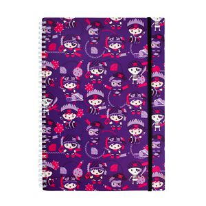 a brand called eD Pirate A4 Notebook 160 Page Purple