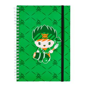 a brand called eD Pirate A5 Notebook 160 Page Green