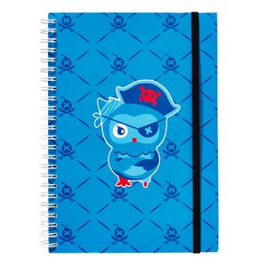 a brand called eD Pirate A5 Notebook 160 Page Blue