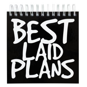 Ed Best Laid Plans Jotter 500 Page