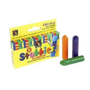 Educational Colours Stubbies Crayons 8 Pack