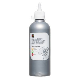 Educational Colours Fabric and Craft Paint 500mL Silver