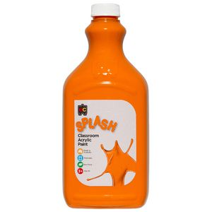 Educational Colours Classroom Splash Paint 2L Tangy Orange