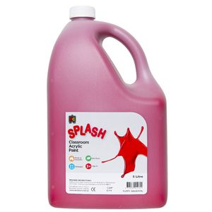 Educational Colours Classroom Splash Paint 5L Poppy