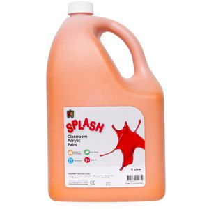 Educational Colours Classroom Splash Paint 5L Tangy Orange