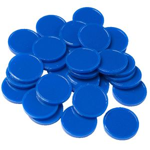 Educational Colours Small Counters Blue 30 Pack