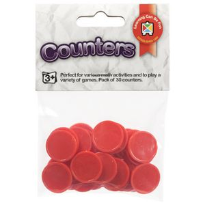 Educational Colours Small Counters Red 30 Pack