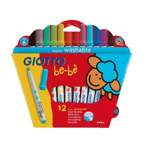 Giotto Be-Be Super Fibre Pens 12 Pack